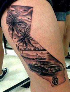 40 Breathtaking State of California Tattoos