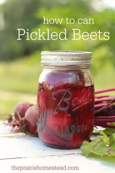 how to can pickled beets recipe no sugar! Leave out the honey and try some stevia!