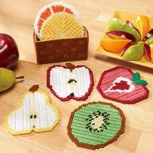 Craftways® Fruit Slices Coasters with Holder
