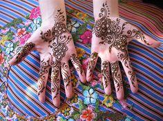 gulf style henna hands by HennaLounge, via Flickr
