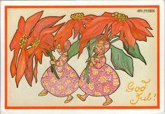 AK - Künstlerkarte - AINA STENBERG - Gelaufen 1980 Schweden