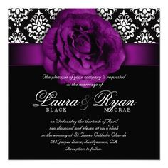 purple and black weddings - Google Search