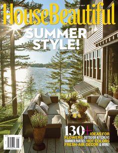 Interior designer Anne Hepfer's modern rustic summer lake house in Muskoka.