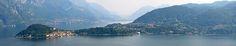 La Lombardia, al sur de los Alpes, con sus grandes lagos de origen glaciar.
