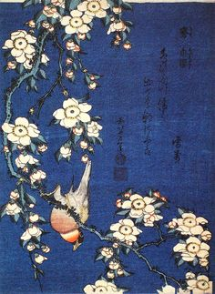 When I discovered Hokusai I was very grateful for Goldfinch and Weeping Cherry, because it allowed me to replace the sad Dutch painting (lovely composition, inherently depressing subject). So this …