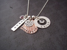 Hand Stamped Jewelry Custom Personalized by SayAnythingJewelry