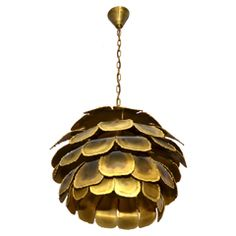 1960s Danish Chandelier thumbnail 1