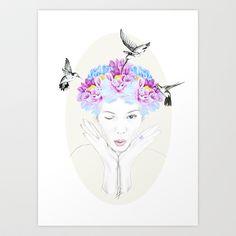 Spring Art Print by Libby Watkins Illustration - $16.99
