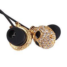 sparkle skull headphones