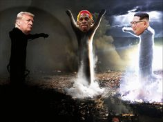 Robaman ( Obama + Rodman ) Trump vs Kim Jong-un vs Rodman Obama loves tgirls. Hence he marries Rodman. Viral Videos, Trending Memes, Obama, Funny Jokes, Pictures, Korean Style, Tgirls, Donald Trump, Live