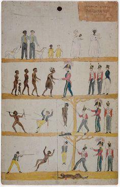 Tazmanya propaganda posteri. Beyazlar ile Aborijinlerin eşit haklara sahip olduğu anlatılıyor. 1800'lerin sonu.