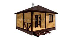 "Баня из бруса ""Влада"" - проект, цены под ключ и под усадку Gazebo, Outdoor Structures, Cabin, Kiosk, Cottage, Wooden Houses, Cabins"