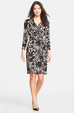 Adrianna Papell Floral Print Faux Wrap Dress available at #Nordstrom