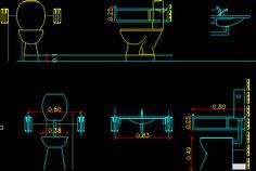 Baños De Discapacitados Dwgdibujo De Autocad
