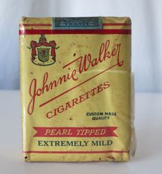 JOHNNIE WALKER CIGARETTES VINTAGE TOBACCO PACK, SERIES 123 TAX STAMP #THREEKINGS