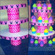 Minnie Mouse cupcake stand
