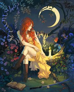 Here you will be able to find witch and wicca themed jewelry, including wicca necklaces, bracelets, rings, crystals and other witchcraft accessories. Psy Art, Illustration Art, Illustrations, Witch Art, Witch Aesthetic, Book Of Shadows, Magick, Amazing Art, Fine Art