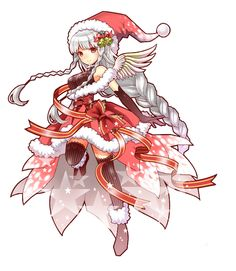 We collected work of characters dressed up or inspired by Santa! Character Dress Up, Character Illustration, Manga Anime, Character Design, Geek Stuff, Santa, Watercolor, Cute, Collection