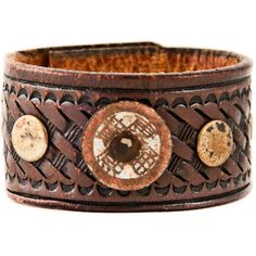 Custom Size Leather Cuff, Women's, Men's, Small, Medium, Large, Extra... (55 CAD) ❤ liked on Polyvore featuring jewelry, bracelets, vintage jewelry, cuff bracelet, leather jewelry, snap button jewelry and vintage jewellery