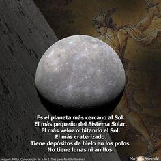 #Mercurio, el planeta más veloz y más pequeño del sistema solar. Más información en el blog de #NoSóloSputnik! https://nosolosputniks.wordpress.com/mercurio/