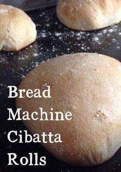 Easy Bread Machine Cibatta Rolls Recipe - It Keeps Getting Better - Bread Recipes Bread Machine Rolls, Easy Bread Machine Recipes, Best Bread Machine, Bread Maker Recipes, Bread Rolls, Chibatta Bread Recipe, Rolls Recipe, Ciabatta Bread Machine Recipe, Recipe Breadmaker