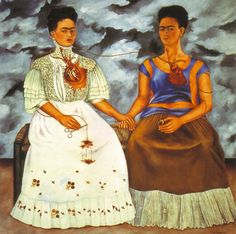 The Two Fridas ~ Frida Kahlo FRIDA KAHLO (1907 - 1954 ) MEXICAN ARTIST : More At FOSTERGINGER @ Pinterest
