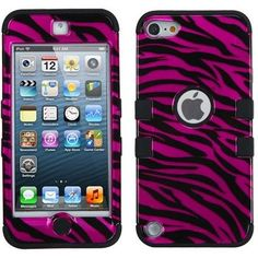 Design Case +Silicone Protector TUFF Cover for iPod Touch Gen (Zebra Skin Hot Pink/Black Silver/Black) Iphone Cases Disney, Cool Iphone Cases, Cute Phone Cases, Ipod Touch Cases, Ipod Cases, Ipod 5, Apple Iphone, Iphone 4s, Ipod Touch 6th Generation