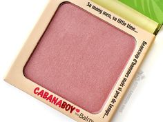 The Balm Cabana Boy Blush – Review & swatches