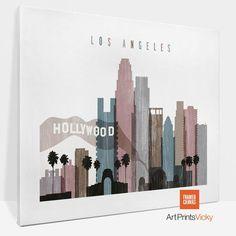 Los Angeles print canvas Los Angeles skyline canvas art Los Angeles framed canvas City art canvas ArtPrintsVicky by ArtPrintsVicky World Map Poster, World Map Wall Art, Hanging Canvas, Canvas Frame, Houston Skyline, Los Angeles Skyline, Typography Art, City Art, Canvas Art Prints