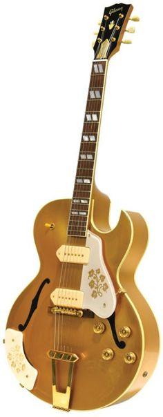 1999 ES-295 presented by Gibson to Scotty Moore Lardys Chordophone of the day 2017 --- https://www.pinterest.com/lardyfatboy/