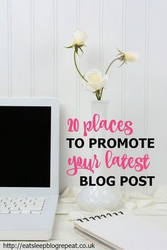 20 Places to Promote Your Latest Blog Post // Do you hit publish on your blog posts then sit back and wait for traffic to come pouring in, only to be disappointed? Here are 20 places you can promote your posts to boost traffic and grow your audience.