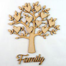 Christmas Guestbook Decoupage Family  Wooden Mdf Autumn Tree Craft Blank BE