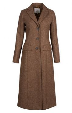 Long Tailored Coat Maybe in black or navy Winter Coats Women, Coats For Women, Ladies Coat Design, Clothing Staples, Classy Work Outfits, Tailored Coat, Tweed Coat, Mode Hijab, Latest Outfits