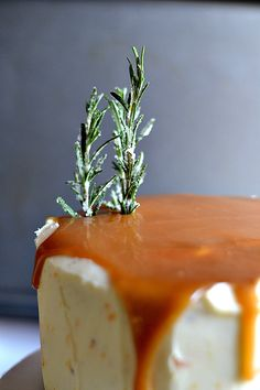 Bakeaholic Mama: German Chocolate Cake with Tangerine Buttercream and Salted Rosemary Caramel Sauce