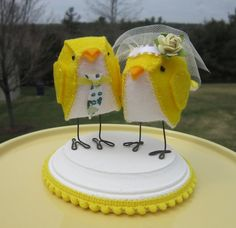 Birds #Wedding Cake Topper ... Wedding ideas for brides, grooms, parents & planners ... https://itunes.apple.com/us/app/the-gold-wedding-planner/id498112599?ls=1=8 … plus how to organise an entire wedding, without overspending ♥ The Gold Wedding Planner iPhone App ♥