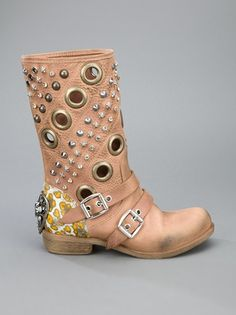 BALDAN studded biker boot