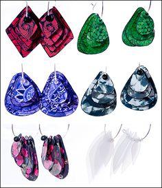 Laminated Paper Earrings DIY! Interesting!