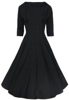 Lindy Bop Jackie O 'Marla' Kleid 50er Jahre 1950's 1960's 3/4 Sleeve Lindy Bop, http://www.amazon.de/dp/B00E1GHNMM/ref=cm_sw_r_pi_dp_-BHgtb0TSV9V1
