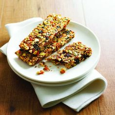 Fruit-and-nut breakfast bars: Make these breakfast bars on the weekend and get your daily serving of fruits and nuts right from the start each morning.