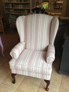 Annie Sloan fabric upholstered chair, Brush by MacDonald Wlodarski, Warsaw, Poland