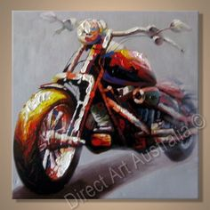 Framed Art, Excellent Motorcycle Painting - Direct Art Australia, Price: $149.00, Availability: Delivery 14 - 21 days, Shipping: Free Shipping, Minimum Size: 50 x 60cm, Maximum Size: 90 x 120cm, We are Australia's oldest and most trusted supplier of professionally painted oil artwork on canvas. http://www.directartaustralia.com.au/