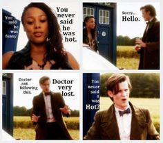 The 11th Doctor and Mels (who regenerates into River) ~ I found this photo here: www.facebook.com/pages/Matt-Smith/114377701911485