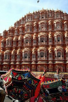 Wind Palace, Jaipur, Rajasthan (south-west of New Delhi), India, Asia. A very impressive building and a true landmark.