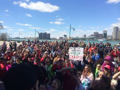 Great turnout at the riverfront after the championship parade.