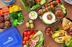 Like the sausage patties and meatballs. Wish my kids would eat broccoli! Paleo Lunchbox Roundup 2014 by Michelle Tam http://nomnompaleo.com