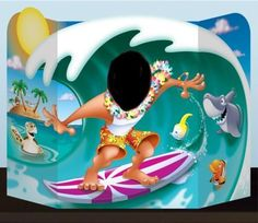 Tropical Party Surfer Boy Hawaiian Photo Prop Scene   Tropical   Themed Parties