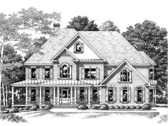 Farmhouse House Plan with 4305 Square Feet and 5 Bedrooms from Dream Home Source | House Plan Code DHSW15682