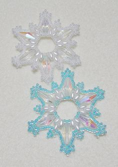 Snowflake 14 Beaded Ornament Pattern by Westtexasjewels on Etsy, $4.00