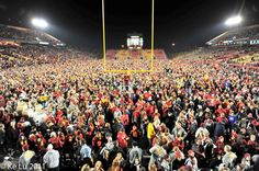 """""""I don't think that all 52,000 fans can fit on the field, but they're gonna try."""" -Announcer after the win against Ok. St. in November of 2011."""