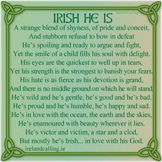 The character of an Irish man